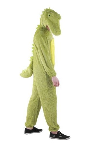 Foxxeo Krokodil Kostm fr Erwachsene Damen und Herren Tierkostm Overall Jumpsuit Grße XL
