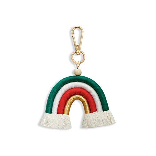 Schlüsselanhänger im böhmischen Stil, mit Quaste, handgefertigt, Taschenanhänger