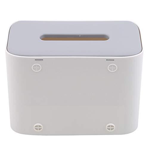 unknow Growrak - Caja organizadora de papel rectangular versátil para baño, color marfil