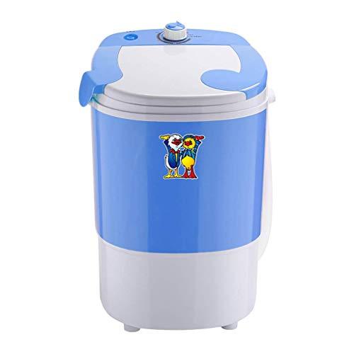 ZXYY Mini Lavadora de lavandería de una Sola bañera Lavadora/Lavadora portátil para Acampar Mini Lavadora portátil con Tubo de Drenaje Capacidad de 5.5 LB Azul/Blanco