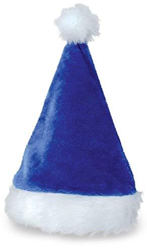 KarnevalsTeufel Mütze Nikolaus Plüsch blau Weihnachtsmütze Kopfbedeckung