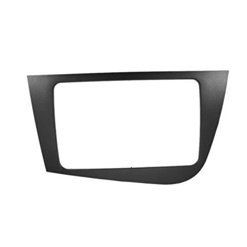 CLEIO Panel de navegación para DVD de 2 DIN para Seat Leon 2005 – 2012 (RHD), kit de embellecedor de radio estéreo de coche (nombre del color: gris)