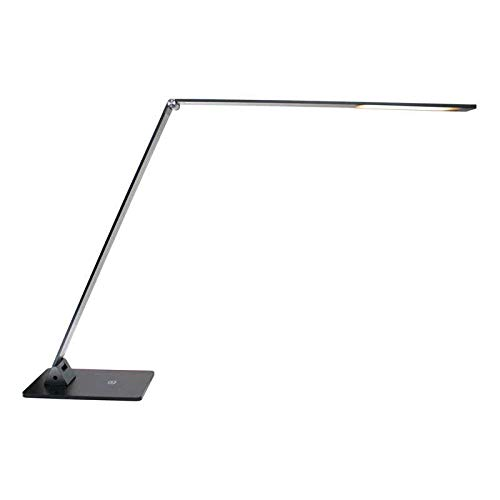 Flexo LED Lámpara de Estudio NIGA 11W Blanco Cálido, color antracita, con cargador USB