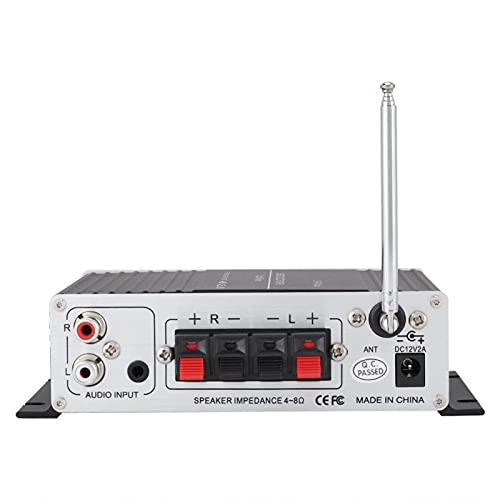 Gaeirt Amplificador de Potencia, Amplificador Multifuncional sin Pérdidas de Aluminio, Portátil Digital para Música para Coche