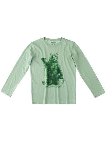 Quiksilver Long Sleeve - Camiseta para niño, tamaño FR : 14 ANS (Talla Fabricante : 14 años), Color Verde