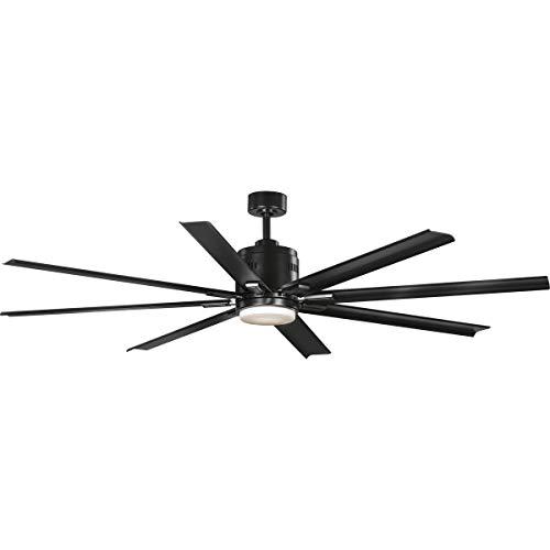 """Progress Lighting P2550-3130K Vast Ceiling Fans, 16-3/4"""" x 72"""", Black"""