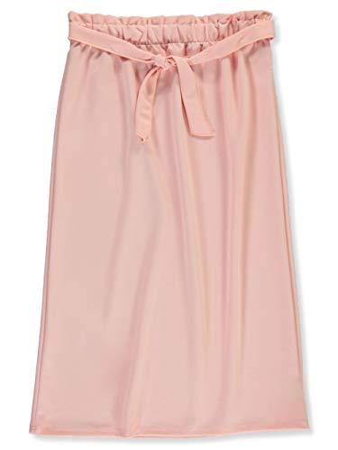 Miss Majesty Big Girls Front Tie Maxi Skirt - Blush, 14-16