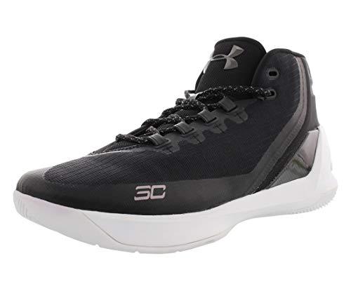 Under Armour Tenis de baloncesto Curry 3 para hombre (11, negro/blanco)