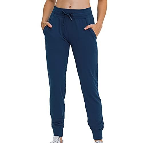 Pantalones de yoga de cintura alta para mujer con bolsillos Entrenamiento Correr Gimnasio Leggings elásticos para mujer con bolsillos Pantalones deportivos para correr para mujer con cintura elástica