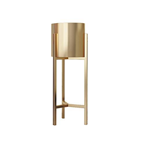 Dbtxwd Blumentopfständer Dekorativer hoher stehender blühender saftiger Metallpflanzenhalter für Hausgartenpatio,Gold,60×22cm