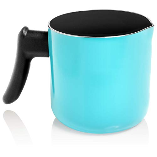Blue Enameled Aluminum Pitcher with Non-Stick Coating - Make Candles, Soap or Use in The Kitchen - Double Boiler Pot by Essential Reserve