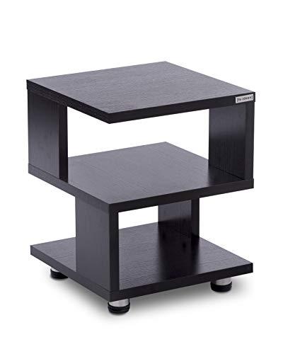 ts-ideen Standregal Beistelltisch Aufbewahrung Holz Schwarz Nachttisch Flur Schlafzimmer Büro Wohnzimmer Regal