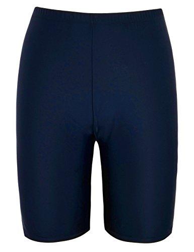 Lever Badeshorts Badehose Damen Lang Schwimmshorts Schwimmhose Boardshorts UV Schutz Bade Hotpants Navy M