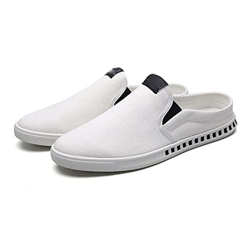Haoooanfbx Alpargatas Hombre, Zapatos Casuales,Menores Zapatillas de Deporte Hombres Medio Zapatillas Casual Lienzo,Mocasines Transpirables Mocasines Ocasionales para Hombre