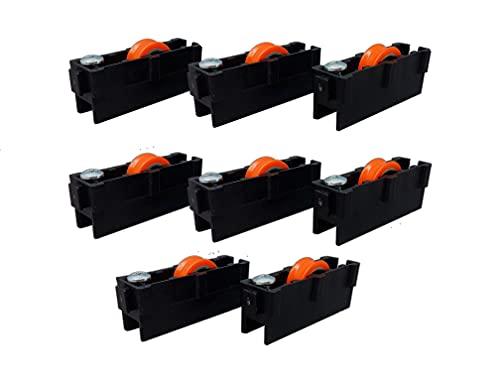 Ventanastock - Ruedas correderas 3 posiciones de repuesto para ventana de aluminio (8 unidades)