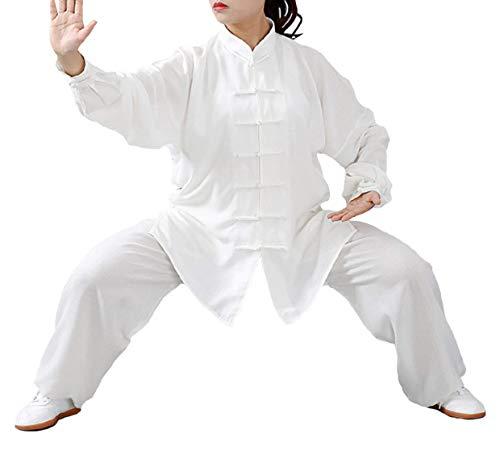 ZLJ Traje de Tai Chi en algodón y Lino Ropa de Artes Marciales Unisex Traje de Kung Fu para Hombre y Mujer (un Conjunto)