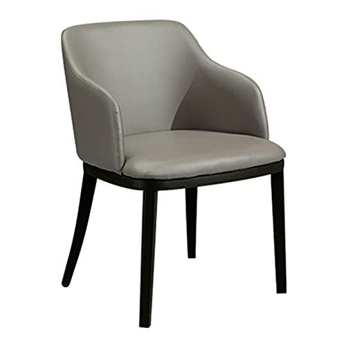 WYGK Wohnzimmerstuhl,PU-Leder Empfangsstuhl Home Desk Milchteeladen Make-up Stuhl Moderne Einfachheit Computerstuhl (Color : Gris)