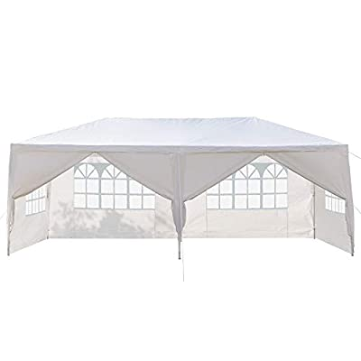 Mytunes 10' x 30' Party Tent,Portable Wedding Party Tent,Patio Parties Tent BBQ Shelter Canopy Gazebo for Outdoor Events (10x20ft-1)