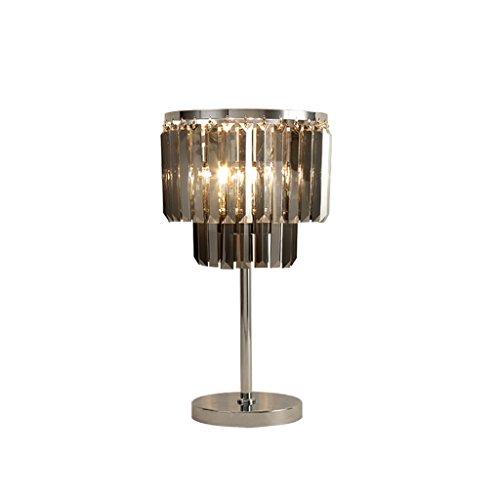 Lampe de table en Cristal Simple Chambre Lampe de Chevet Lampe d'étude européenne de Luxe LED Lampes en Cristal d'éclairage (Couleur : Smoke Gray)