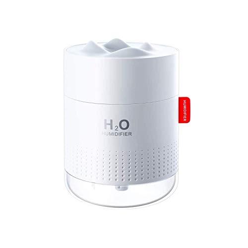 Humidificador Ultrasónico Humidificador de Niebla de 500ml Difusor de USB, Humidificador de Interior Ultra Silencioso Funcionamiento Silencioso 10-16h de Trabajo para Casa Oficina Bebé Blanco