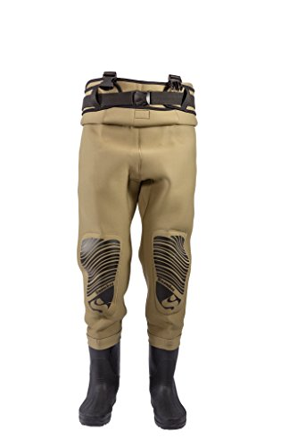 Snowbee Classic Neoprene Cleated Sole Chest Wader - Light Olive, Size 10