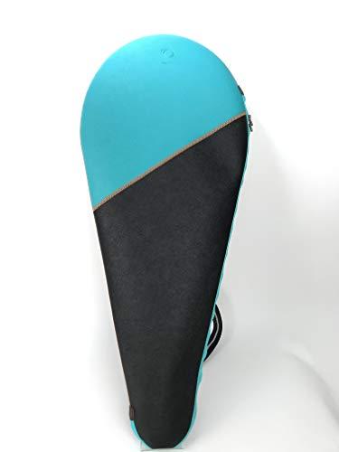 ONEJOY Tennisschlägertasche, Hülle, Abdeckung AJ3 für Tennisschläger, 2 Farbkombinationen, 51 cm x 31 cm für 1 Schläger/Schläger/Paddel, Sky Blue/Black, Full Cover