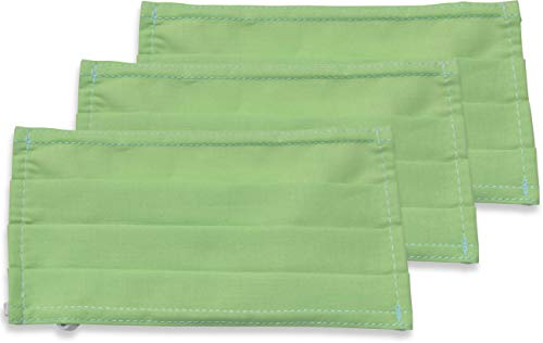 fashionchimp ® 3er-Set Mundschutz-Maske aus 100% Baumwolle, Gesichtsmaske, waschbar, EU-Ware, OEKOTEX (Grün)