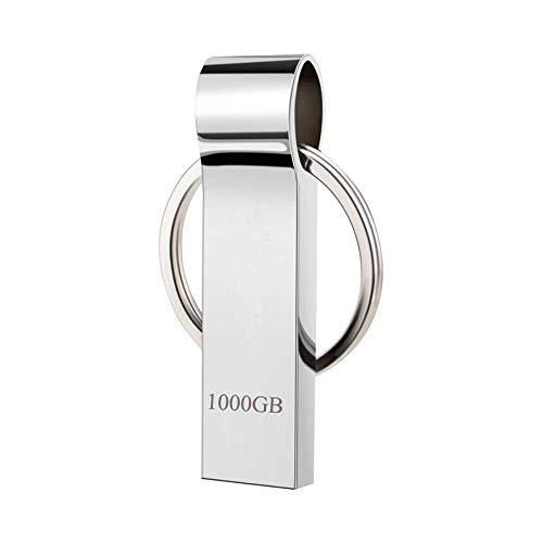Elevavie Chiavetta USB 1000GB Pendrive Metallo USB Flash Drive Con portachiavi portatile da trasportare (1000gb)
