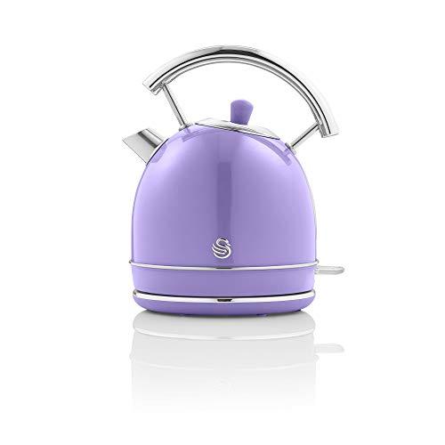 Swan Retro 1.8 Litre Dome Kettle Fast Boil 3KW - Purple
