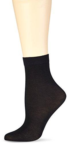 Nur Die Damen Sückchen Cotton Sensation Socken, Schwarz Schwarz 94, 36 41 EU