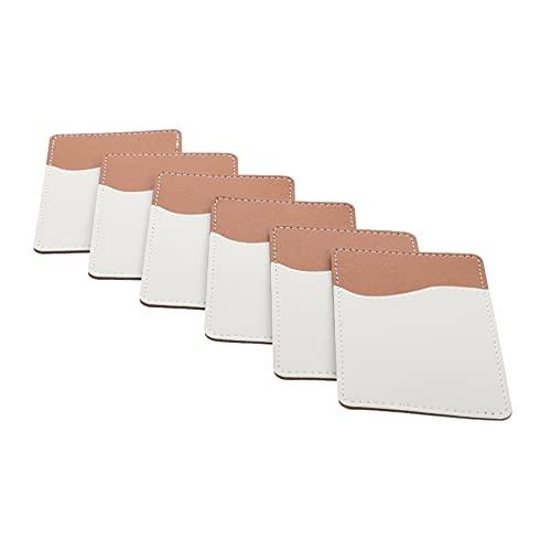 BESPORTBLE 6 Sets Sublimatie Telefoon Card Houders Lijm Telefoon Wallet Pu Lederen Kaarthouder Voor Meest Smartphone…