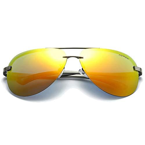 DKee Película De Color Gafas De Sol con Material Metálico Polarizado Salvaje, Naranja Pistola Azul/Verde/Naranja/Rosa Lentes Hombres Y Mujeres con Las Mismas Gafas De Sol Gafas de Sol