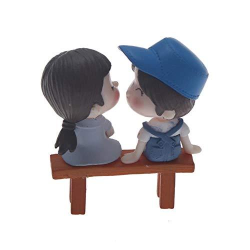 Gbcyp 1 stücke Mini Hocker Paare Puppen Fairy Garden Miniaturen Decor Puppenhaus/Terrarium Action-Figuren Figur DIY Micro, als pic