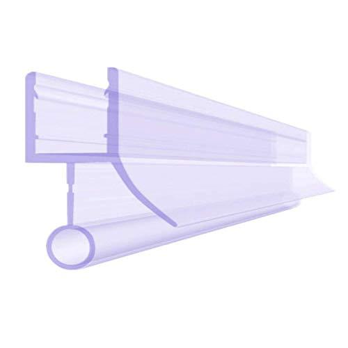 BIJON Duschdichtung 6mm - 90cm Duschtür-Dichtung mit Balg für Duschkabine, Dichtung Dusche Glastür, Duschkabinen-Dichtung, Duschlippendichtung, Duschwand, Gummilippe, DU01
