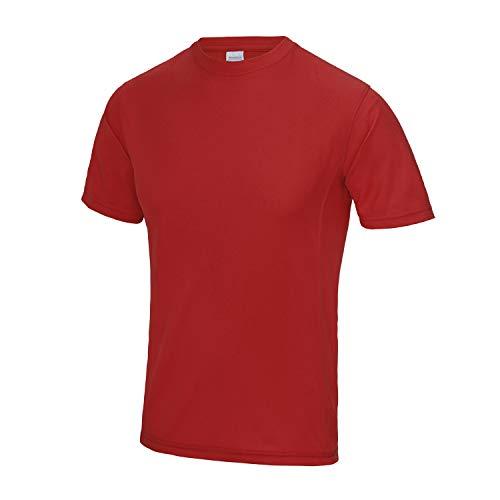 AWDis Just Cool Supercool Performance T-Shirt Hombre Gimnasio/Camiseta Deportiva - Rojo Fuego (XL)