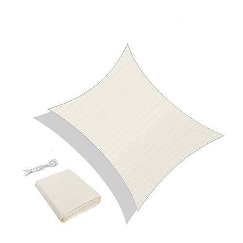 Sunnylaxx Vela de Sombra Rectangular 3 x 4 Metros, toldo Resistente e Impermeable, para Exteriores, jardín, Color Crema