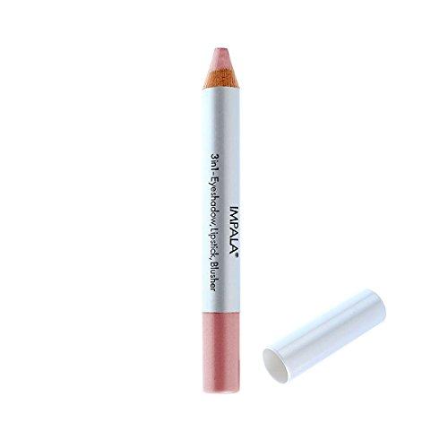 Impala Bleistift 3 in 1 Farbe 07 Rosa - Lidschatten, Lippenstift und Blusher