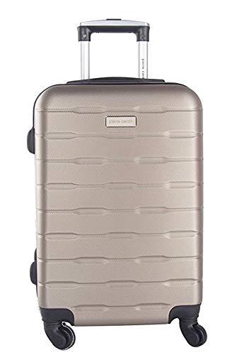 PIERRE CARDIN - Maleta rígida champán mini equipaje de mano apto Ryanair - 54cm