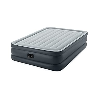Intex Dura-Beam Standard Series Essential Rest Airbed with Built-In Electric Pump, Bed Height 20 , Queen