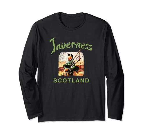 Escocia Inverness Galico escocesa Vintage Manga Larga