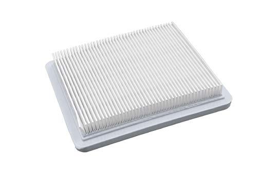 vhbw Papier-Luftfilter 13,2 x 11,5 x 2,1cm weiß passend für ISEKI SR 5043 A, SR 5048 A, SR 5053 A, SW 519, SW 521 Rasenmäher