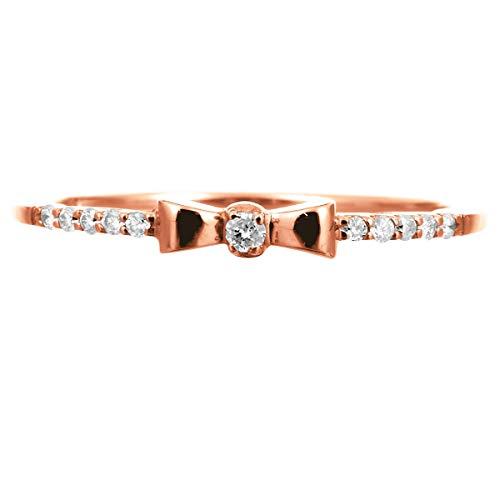 [ココカル]cococaru ダイヤ リング ダイヤモンドリング ダイヤモンド 指輪 レディース 10金 10k K10 ゴールド イエローゴールド ピンクゴールド ホワイトゴールド ギフト 贈り物 記念日 プレゼント 日本製(ピンクゴールド 24)