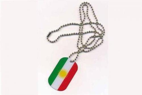 Erkennungsmarke DOG TAG Kurdistan Fahne Flagge Kette