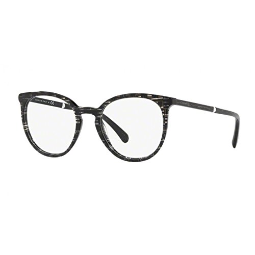 Chanel Damen Brillengestell Schwarz Schwarz  50
