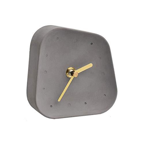 YITIANTIAN Relojes de Escritorio Personalidad Creative Table Reloj Sala de Estar Dormitorio Silent Small Table Reloj Cuatro Colores Reloj de Cama Silencioso (Color : D)