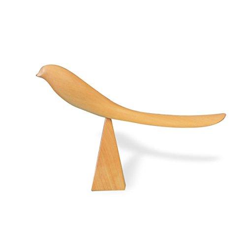 靴べら くつべら 木製 スタンド SHOEHORN ミャンマー 親鳥の靴べら 手作り 鳥 木製 鉄刀木 ツゲ 貴重な銘木 (ツゲ(ナチュラル))