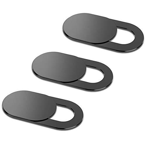 3xCAL Webcam AbdeckungWebcam Abdeckung   Webcam Cover Slider, W3 [5-Pack] 0.6mm-Thin Metall Kamera Abdeckung   Camera Cover for MacBook Pro, MacBook air, Laptop, iMac, iPad Pro, Kamera (Schwarz)