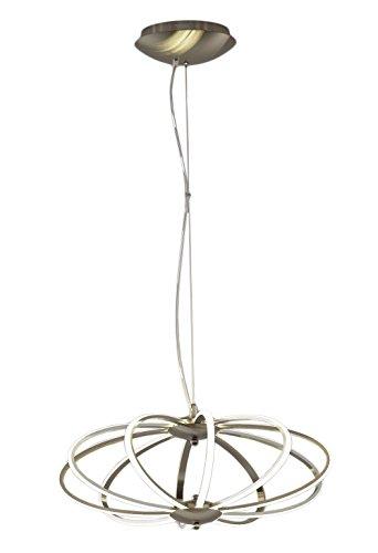 Interfan Lámpara colgante LED, 76 W, Blanco y plata