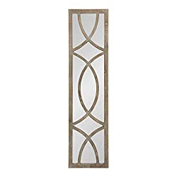 Kate and Laurel Tolland Wood Framed Panel Wall Mirror on amazon