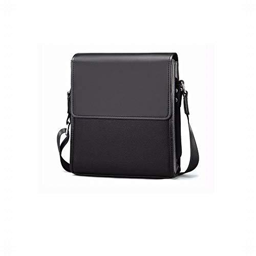 Confortable Sac à bandoulière pour Homme Messenger Business Messenger Bag Élégant (Couleur : Noir)